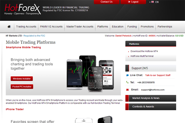 hotforex screen shot